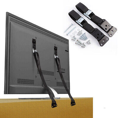 Anti-tip TV/Furniture Straps Flat Screen Safety Belt Metal Buckle Webbing Kit