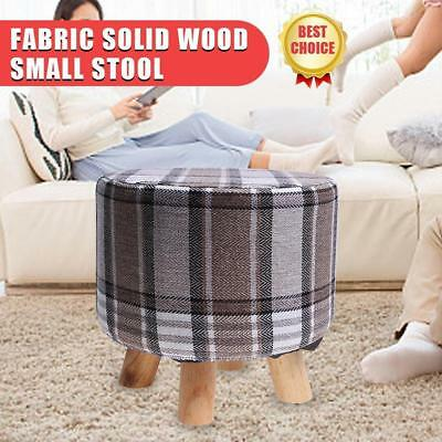 Quirky Shabby Wooden Chic Footstool Ottoman Pouffe Foot Rest Padded Home Seat US