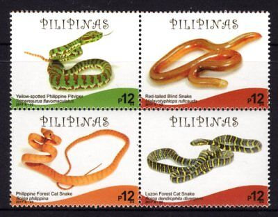 Philippines 2017 Endemic Snakes Block 4 MNH