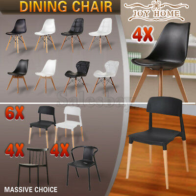 Wooden Retro Replica Eames PU Eiffel DSW Dining Chair Chairs Cafe Office Kitchen
