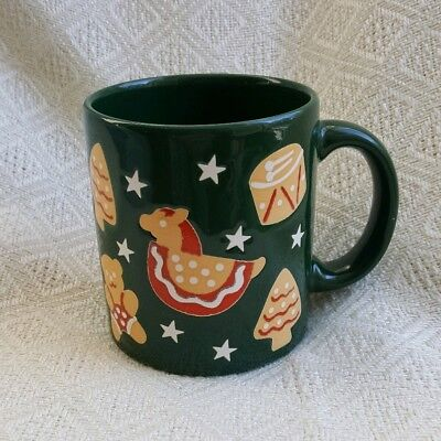 WAECHTERSBACH Green Coffee Mug Germany Stars Drums Bears Snowflakes Germany VGC