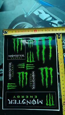 set Monster Energy Drinks Logo Sheet of 12 Stickers Decals