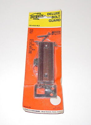 Vintage Stanley Guardware Deluxe Door Solid Steel Bolt Guard CD 4533 AL2 USA NOS