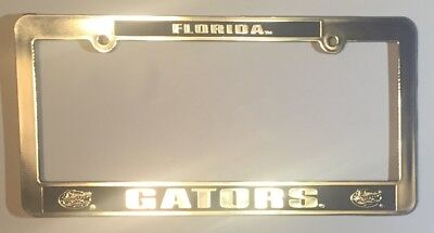 Florida Gators Car Truck Tag License Plate Frame University Silver Black Gator