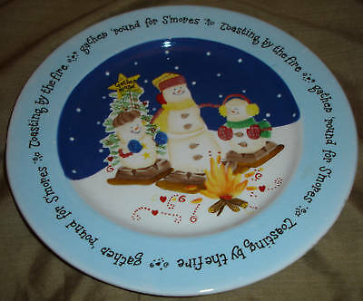 Goose Berry Patch Smores SNOWMAN Family Dinner PLATE