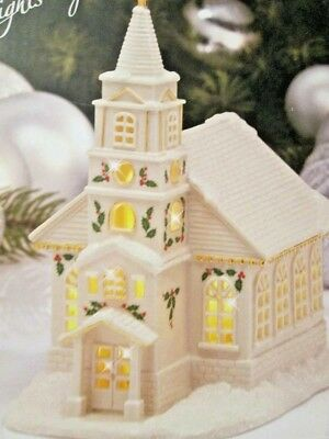 Lenox Christmas Village ~ Lighted Church LED Lit Figurine ~ New in Box