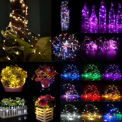Guirnalda luces led alambre de cobre CON PILAS USB 12v Fiesta Navidad Hada