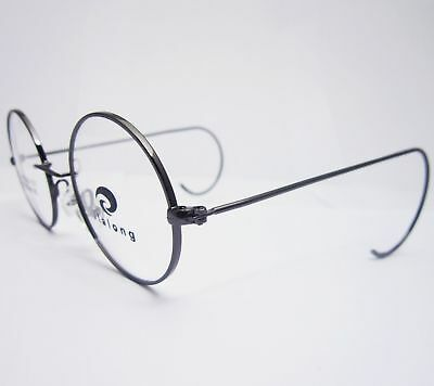 42mm Antique Vintage Round Silver Gold Wire Rim Eyeglass Frame For A Small Face