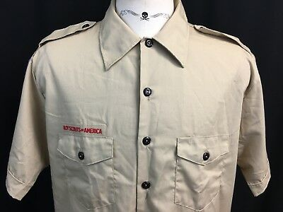 NEW Adult XL Extra Large Boy Scouts Of America Uniform Short Sleeve Shirt NWT