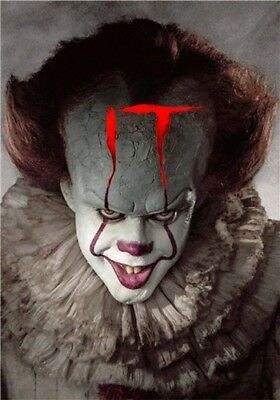 IT 2017 Movie Poster Stephen King Pennywise Art Fabric Poster 20x13'' inches006
