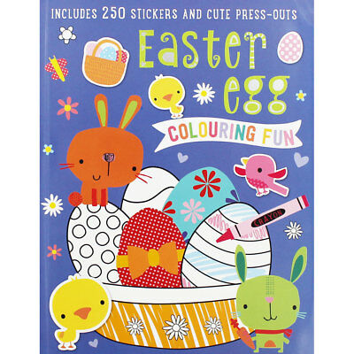 Easter Egg Colouring Fun (Paperback), Children's Books, Brand New