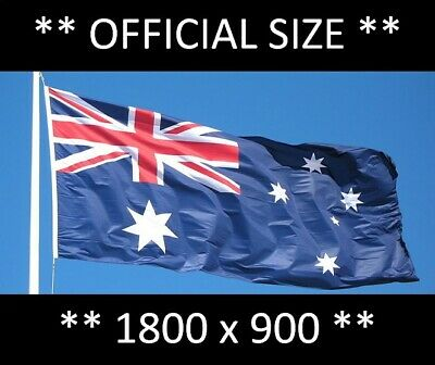 QUALITY HEAVY DUTY Australian Flag With Brass Clips Free Shipping