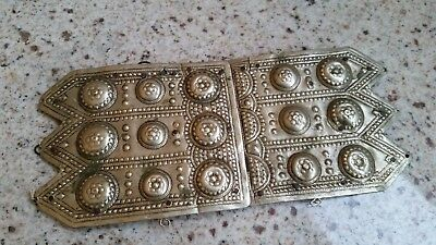 Antique Albanian Folk Women Belt Buckle Pafta Handmade Ottoman Period