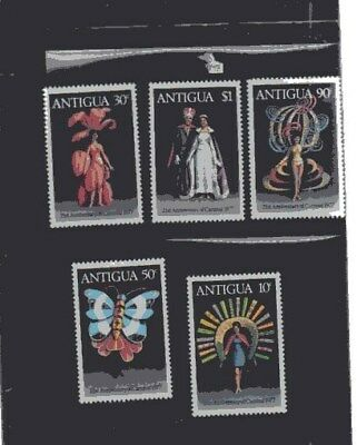 Nice Set From Antigua,5 Stamps Mnh Attractive Lot