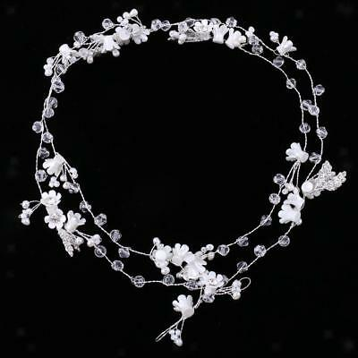 Wedding Bridal Crystal Flower Pearls Headpiece Lady Hair Jewelry Accessories