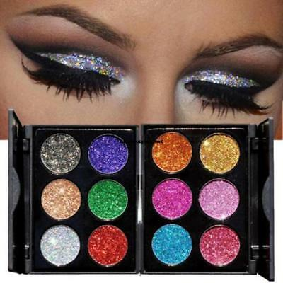 Diamond Glitter Eyeshadow Palette Shimmer Powder Eye Makeup- 6 colori Eyeshadow