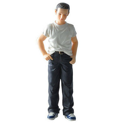 Dolls house figure 1/12th scale poly/resin young man called Bradley