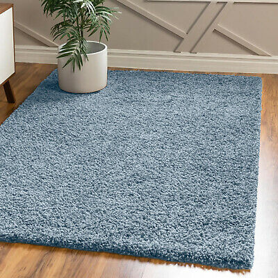 High Quality Duck Egg Blue Thick Soft Modern 5Cm High Soft Shaggy Rugs