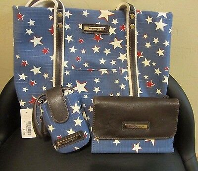 Longaberger American STARBURST Tote Bag PURSE, Wallet & Phone NWT