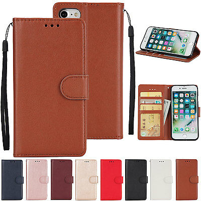 HS Business Magnetic Leather Wallet Card Holder Stand Flip Case Cover For Phones