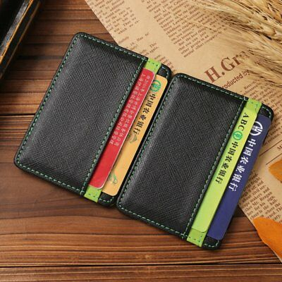 Fashionable Men Women Special Wallet Clip PU Leather Magic Credit Card Holder AU