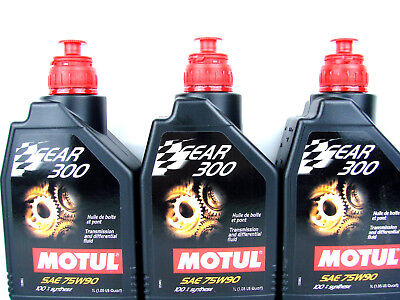 3Liter Motul Gear 300 SAE 75W90 Transmission Oil Fully Synthetic Manual