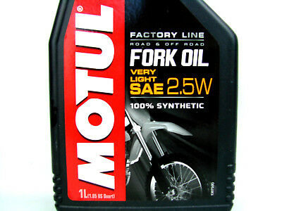 MOTUL FORK OIL Very Light SAE 2.5W FACTORY LINE FORK OIL dämpfungsöl Oil 1x 1 L