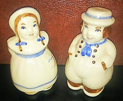 Cheerful Shawnee Dutch Boy and Girl Salt  Pepper Shaker Set