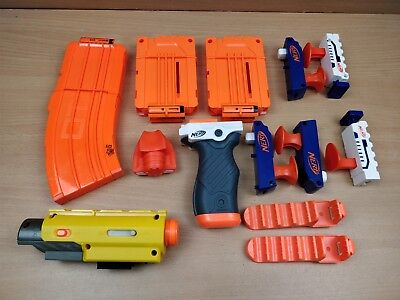 Joblot Of Nerf Gun Accessories Bundle Magazines Sights ETC VGC