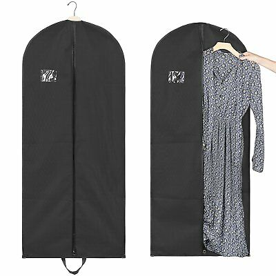 "BRIDAL WEDDING DRESS Storage Gown Prom Garment Bag 54"" Black Wardrobe Travel"