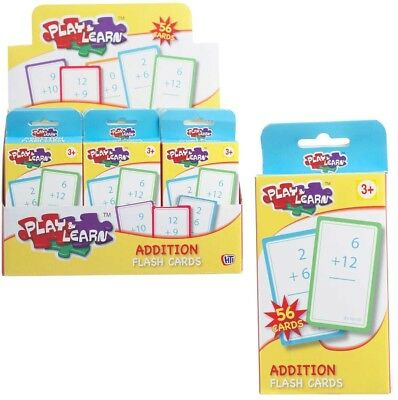 Educational Kids Flash Cards Addition - 56 Cards
