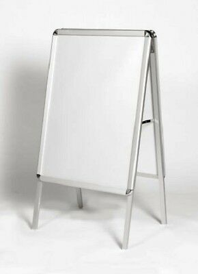A1 A-Board Pavement Sign Snap Frame Double Side Aluminium Poster Display Stand