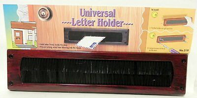 Universal Mail Slot Letter Holder Front Door Mail Wind Woodgrain Look Keep Draft