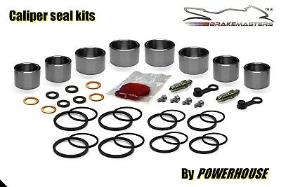 Kawasaki ZXR 750 H front brake caliper piston seal rebuild kit 1989 1990 H1 H2