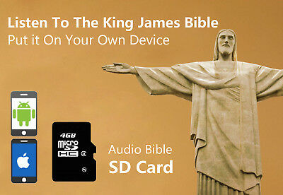 Wonder Full Bible Player King James Audio Version SD Card For Phone /Pad/MP3/PC
