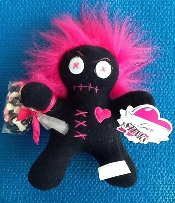 "Valentines Day VooDoo Plush ""Love Stinks"" Troll Hair  Doll  by Galerie"