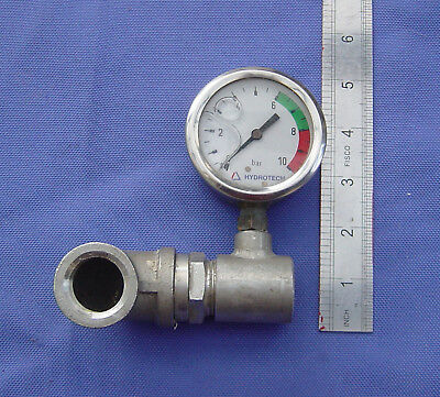 HYDROTECH Liquid filled Pressure Gauge. 2.375 inches wide. (+4.00 Postage)