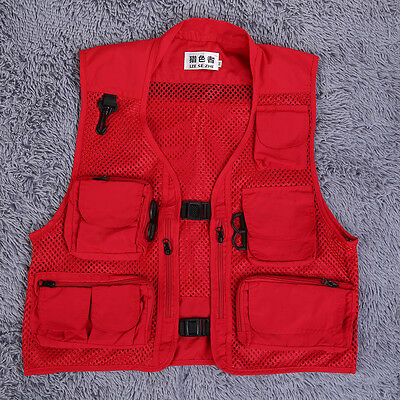Summer Fishing And Buckle Men's Spring And Photography Work Mesh Vest Garment GD