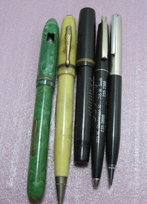 Lot of 4 Four Vintage Fountain Pens and Pencil