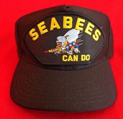 1655275a10a97 U.s Navy Seabees Can Do Hat U.s Navy Official Military Ball Cap U.s.a Made