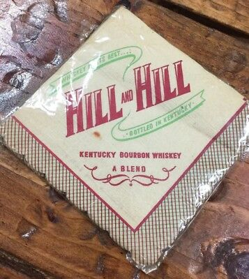 Vintage Bar Napkins Form Hill And Hill Kentucky Bourbon Whiskey