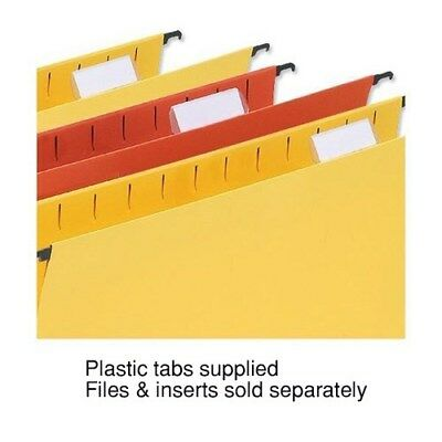 5 Star wrapover Suspension File Tabs / Clear / Tabs Insert / White