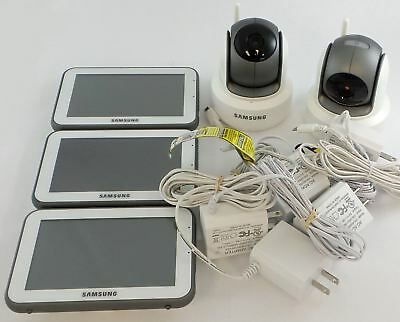 Lot of Samsung Brightview Wireless Video Baby Monitor SEP-1003RWN SEE DESC