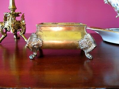 antique vintage brass cachepot planter well made k and co. first quarter 20th c