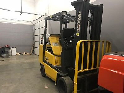 1992Yale 5000 Pound LPG/Propane BUDGETForklift-WE WILL SHIP!Cushion-Lifts15 feet