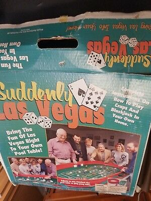SUDDENLY LAS VEGAS Blackjack And Craps Table Top Set In Box R10126 BARELY USED