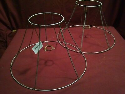 Lamp shade wire frame oval large for floor lamp 5995 picclick vintage pair wire frame for lamp shade making restoration repair 15 x 6 x 9 keyboard keysfo Choice Image