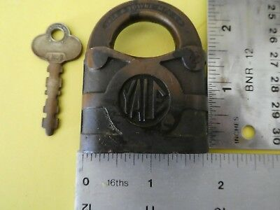 Old Vintage Antique Padlock with Key