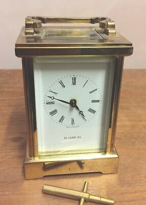 "Fema Of London Brass Timepiece  Carriage Clock GWO 4""H 3""W 2.5""D"