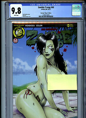 Zombie Tramp #40 (2017) Action Lab CGC 9.8 White Pages Harrigan Risque Edition